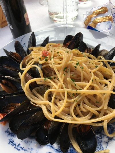 Seafood pasta from Sorrento, Italy